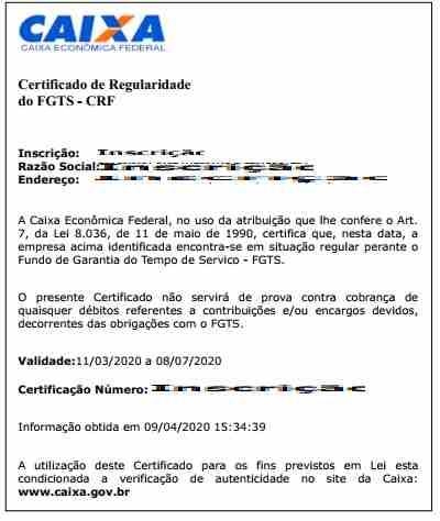 emitir certificado regularidade fgts