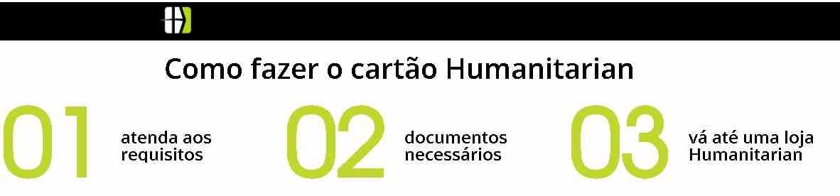 solicitar cartao humanitarian